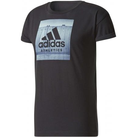 Koszulka męska - adidas ESS CATEGORY REGULAR TEE - 1