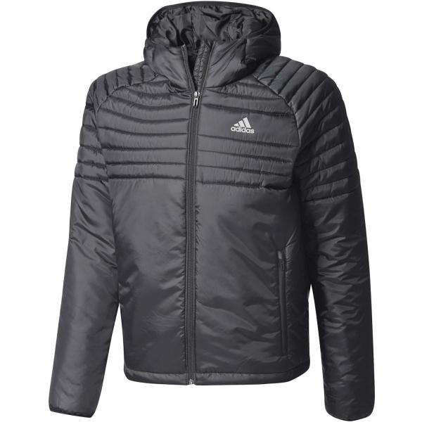 adidas CYTINS HOODED PADDED JACKET černá S - Pánská outdoorová bunda