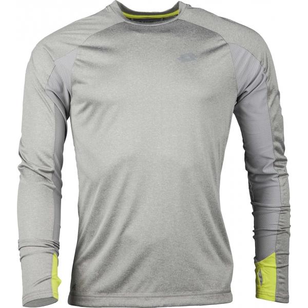 Lotto X RIDE II TEE LS šedá XXL - Pánské sportovní triko