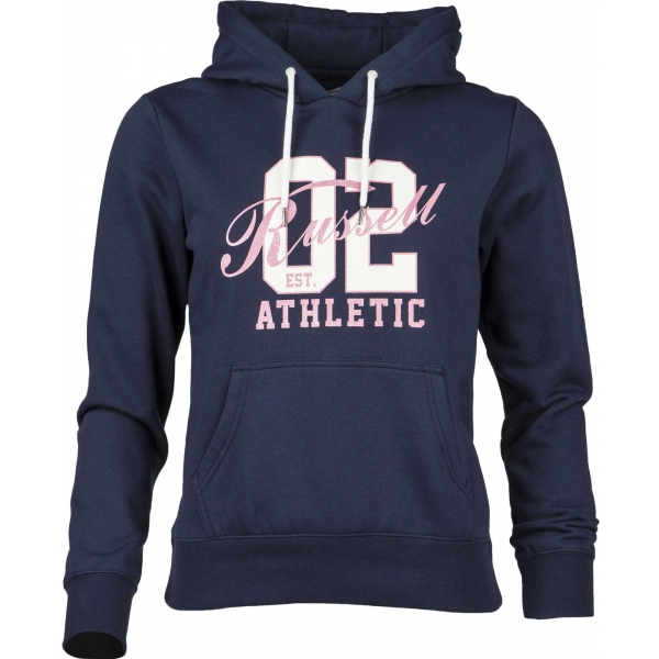 Russell Athletic HOODED SWEAT WITH GRAPHIC granatowy XS - Bluza damska