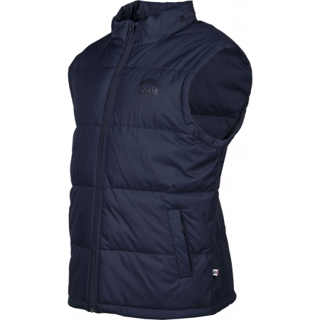 Pánska vesta - Russell Athletic SLEEVELESS PADDED JACKET WITH CONCEALED HOOD - 2