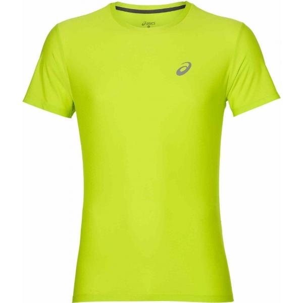 Asics SS TOP BLACK zelená XXL - Pánské běžecké triko