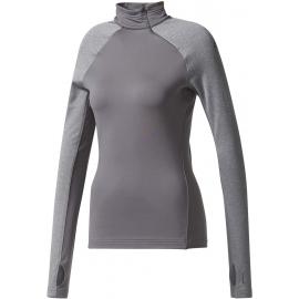 adidas TF TOP LS HZ W GREY - Dámské tričko s dlouhým rukávem