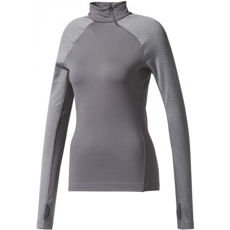 Dámské tričko s dlouhým rukávem - adidas TF TOP LS HZ W GREY - 1