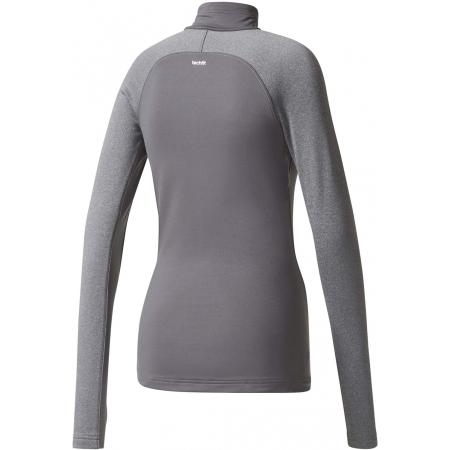Dámské tričko s dlouhým rukávem - adidas TF TOP LS HZ W GREY - 2