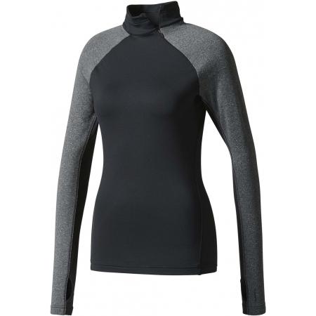 Dámské tričko s dlouhým rukávem - adidas TF TOP LS HZ W BLACK - 1