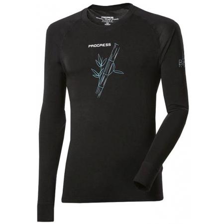 Pánske funkčné tričko - Progress E NDR BAMBUS BLACK