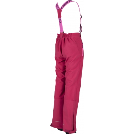 Dívčí lyžařské softshellové kalhoty - Lewro LONDON 140-170 - 3