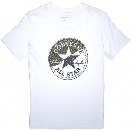 Dámské tričko - Converse SPLICED LEOPARD CP CREW TEE - 1