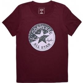 Converse SPLICED LEOPARD CP CREW TEE - Dámské tričko