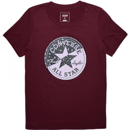 Dámské tričko - Converse SPLICED LEOPARD CP CREW TEE