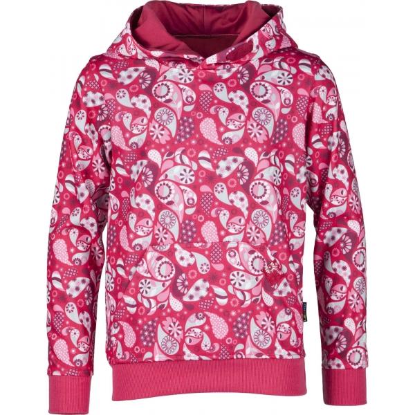 Lewro LEONE 140-170 růžová 140-146 - Dívčí mikina