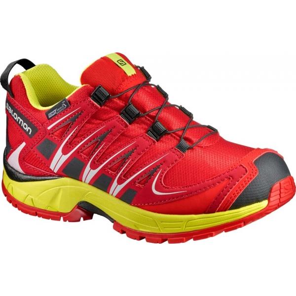 Salomon XA PRO 3D CSWP K červená 29 - Dětská běžecká obuv
