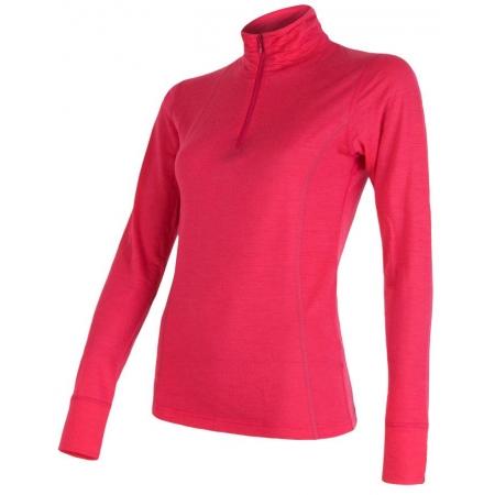 Sensor MERINO ACTIVE ZIP - Koszulka funkcjonalna damska