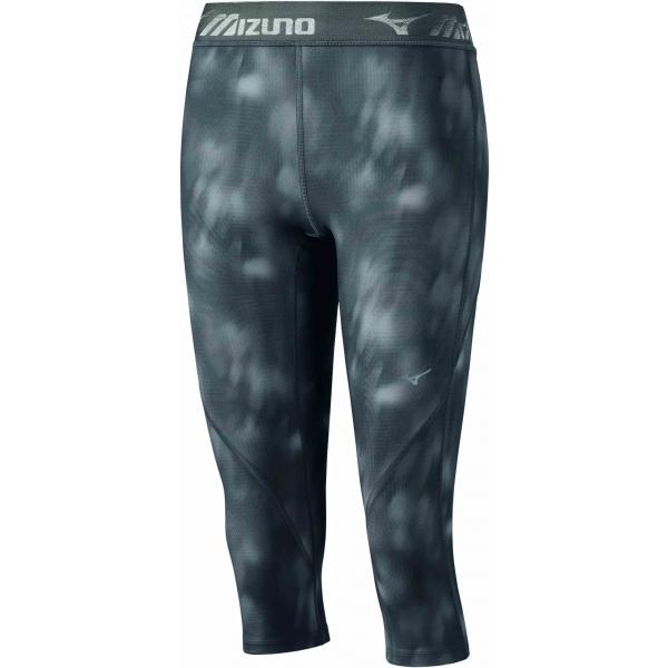 Mizuno IMPULSE 3/4 TIGHT W šedá S - Dámské elastické 3/4 kalhoty