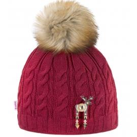 Kama ČEPICE S JELENÍ BROŽÍ BANFF - Dámská zimní čepice s jelení broží Deers