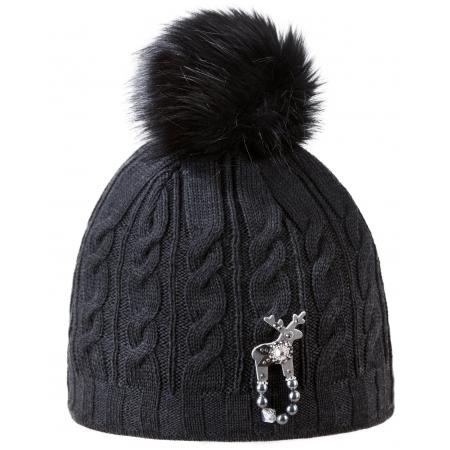 Kama ČEPICE S JELENÍ BROŽÍ STUBEN - Дамска зимна шапка с еленова брошка Deers