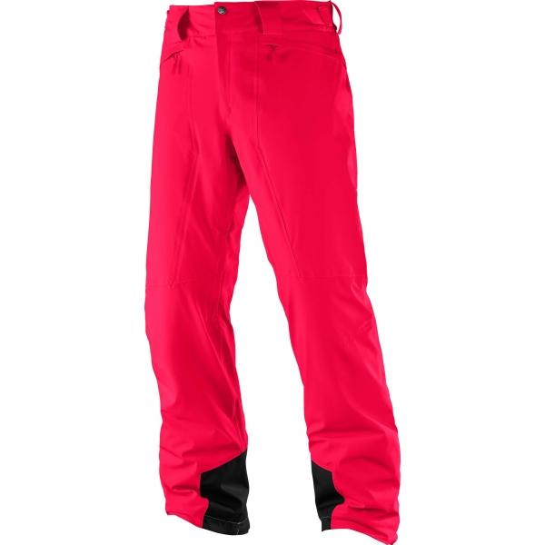 Salomon ICEMANIA PANT M červená XL - Pánské zimní kalhoty