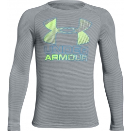 Under Armour HYBRID BIG LOGO LS TEE - Chlapčenské tričko