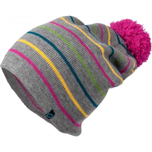 Lewro DITTO šedá 8-11 - Dívčí pletená čepice