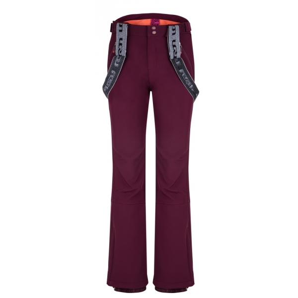 Loap LAKA bordowy XL - Spodnie softshell damskie