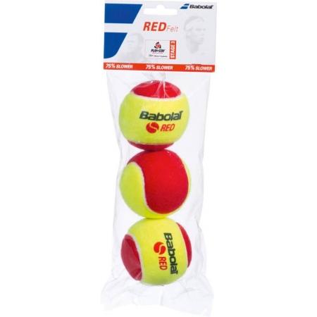 Tenisové loptičky - Babolat RED FELT X3 - 2