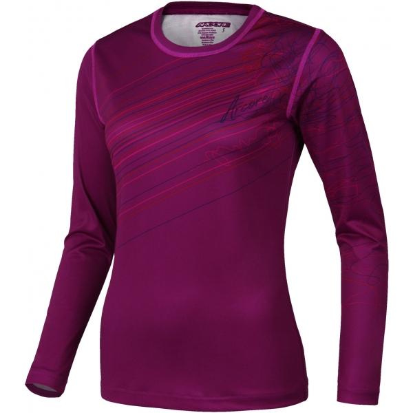 Arcore LAURA 2 vínová M - Dámske funkčné tričko