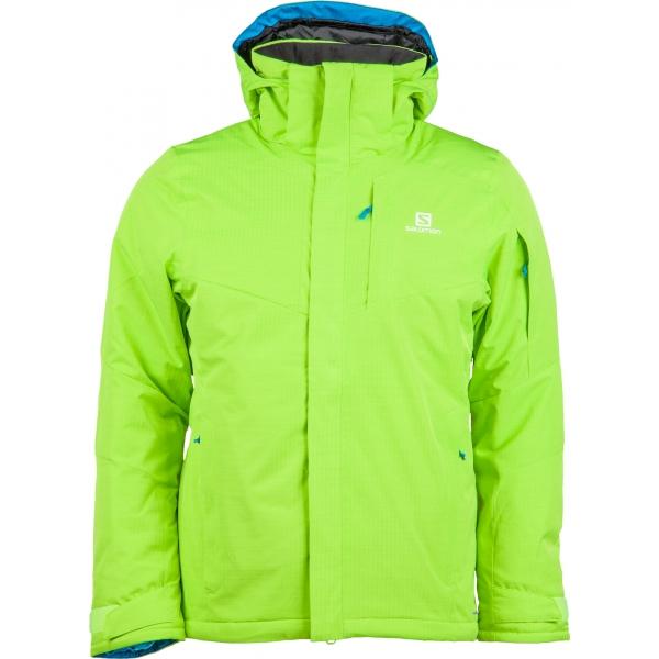 Salomon STORMSPOTTER JKT M zelená M - Pánská zimní bunda