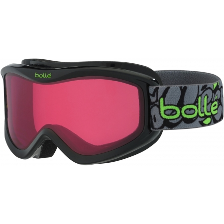 Bolle VOLT BLACK FRAFFITI - Downhill ski goggles for children from 6 years of age