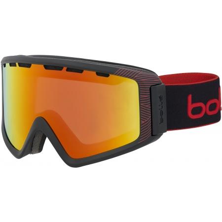 Bolle Z5 OTG SHINY BLACK/RED - Skibrille mit OTG Technologie