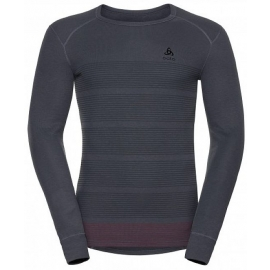 Odlo SUW MEN'S TOP L/S CREW NECK ACTIVE ORIGINALS WARM GOD JUL PRINT - Pánské triko