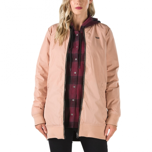 Vans BOOM BOOM LONG REVERSIBLE MTE JACKET világos rózsaszín XL - Női kifordítható kabát