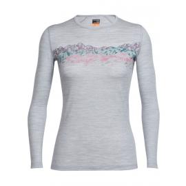 Icebreaker OASIS LS CREWE SKY SUNSET - Women's T-shirt