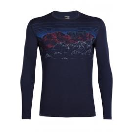 Icebreaker OASIS LS CREWE SKY NIGHT - Men's T-shirt