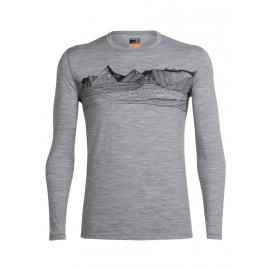 Icebreaker OASIS LS CREWE PYRENEES - Men's T-shirt