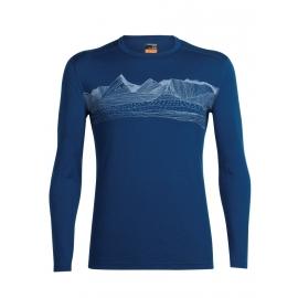 Icebreaker OASIS LS CREWE PYRENEES - Pánské triko