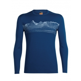 Icebreaker OASIS LS CREWE PYRENEES - Tricou de bărbați