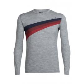 Icebreaker OASIS LS CREWE ASCENT STRIPE - Men's T-shirt
