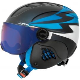 Alpina Sports CARAT LE VISOR HM PERIWINKLE - Detská lyžiarska prilba