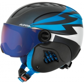 Alpina Sports CARAT LE VISOR HM PERIWINKLE - Детска ски каска