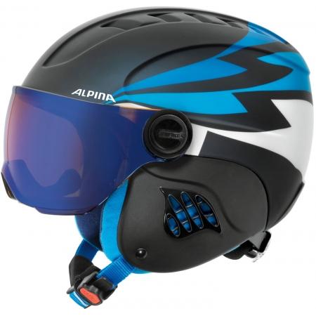 Alpina Sports CARAT LE VISOR HM PERIWINKLE - Kask narciarski dziecięcy