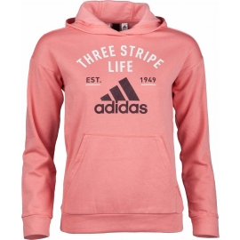adidas KIDS HOODY GRAPHIC ROSE - Children's sweatshirt