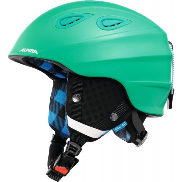 Alpina Sports GRAP 2.0 zelená 54-57 - Lyžařská helma