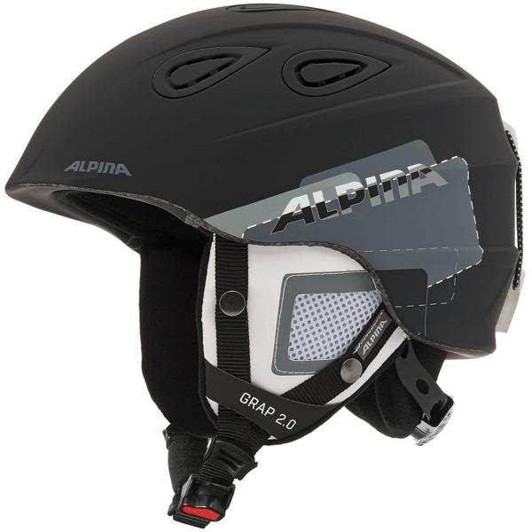 Alpina Sports GRAP 2.0 czarny (61 - 64) - Kask narciarski