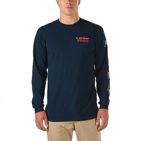 Pánské tričko s dlouhým rukávem - Vans PEANUTS HOLIDAY - 1 d70b2e28f49