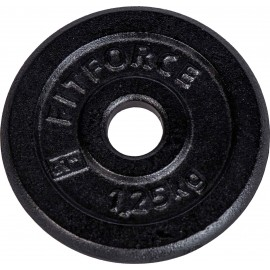 Fitforce WEIGHT DISC PLATE 1.25 KG BLACK - Weight disc plate