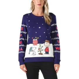 Vans PEANUTS CHRISTMAS CREW - Дамска блуза