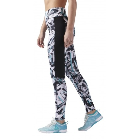 Women's tights - Reebok WOR AOP TIGHT-WING - 3
