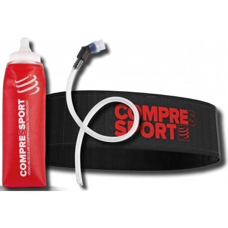 Sports hip belt + bottle - Compressport XMASPACK17 Belt + ErgoFlask600 - 1