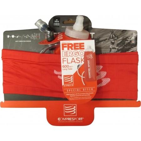 Sports hip belt + bottle - Compressport XMASPACK17 Belt + ErgoFlask600